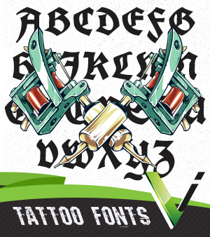 Top Tattoo Typography Fonts