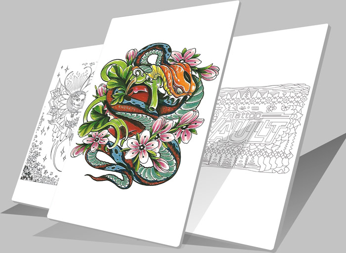 Download Tattoo Print Pages